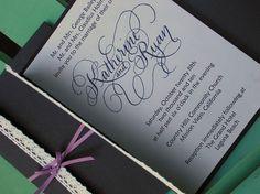 Vintage Modern Calligraphy Wedding Invitation by Designs by Robyn Love www.designsbyrobynlove.com or www.designsbyrobynlove.etsy.com