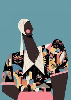 Illustration, pattern illustration, new print, illustrations and posters, d Art Et Illustration, People Illustration, Pattern Illustration, Poster S, New Print, Illustrations And Posters, Illustrators, Character Design, Creations