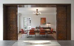 Rundell-Associates-Art-Deco-Dorchester-Drive-Kitchen-Dining-Room-Sliding-Walnut-Doors