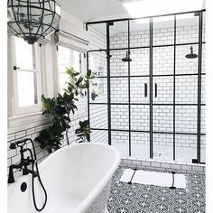 Absolutely IN LOVE with this bathroom! Featured on - just the bee's knees: Trendy Tuesday ~ Global Inspired Tile