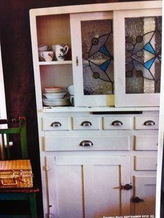 Nice leadlight cabinet