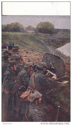 WWI, Jan 1917, German machine gunners