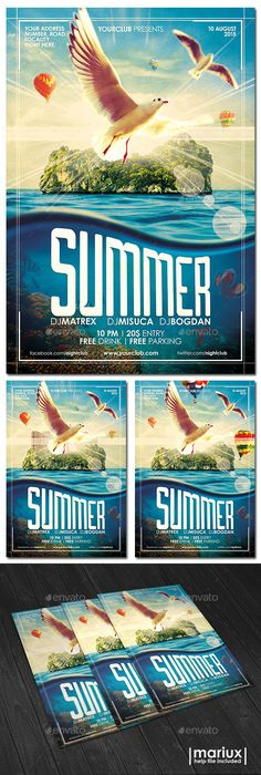 Summer Party Flyer Template #design #flyerdesign Download: http://graphicriver.net/item/summer-party-flyer/12138353?ref=ksioks