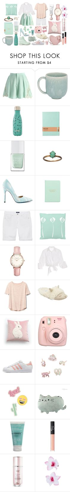 """034 ; Mint vs Blush"" by liljackanape ❤ liked on Polyvore featuring Chicwish, Jars, S'well, The Hand & Foot Spa, TaylorSays, MiGOALS, GANT, ROSEFIELD, Johanna Ortiz and Gap"