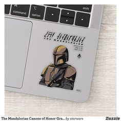 The Mandalorian Canons of Honor Graphic Sticker Star Wars Bounty Hunter, Star Wars Merchandise, Disney Plus, Vinyl Sheets, Personalized Stickers, Shape Of You, Decorated Water Bottles, Mandalorian, Business Logo
