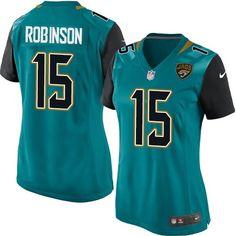 nike limited allen robinson teal green womens jersey jacksonville jaguars 15 nfl home