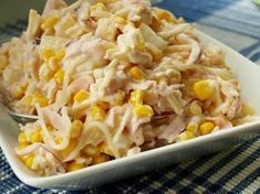 Cheesy Ham and Veggie Casserole - Good family meal that can also be a freezer meal. Raw Food Recipes, Pasta Recipes, Salad Recipes, Cooking Recipes, Healthy Recipes, Brunch Casserole, Vegetable Casserole, Vegetable Salad, How To Cook Pasta