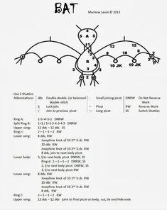Tat's All She Wrote: Tatting bat Shuttle Tatting Patterns, Needle Tatting Patterns, Tatting Jewelry, Tatting Lace, Lace Patterns, Crochet Patterns, Canvas Patterns, Tatting Tutorial, Tutorial Crochet