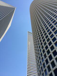 Azrieli towers in Tel-Aviv
