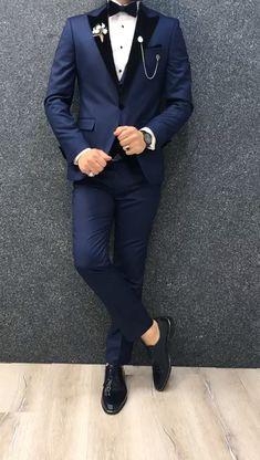 Best Wedding Suits For Men, Wedding Dress Men, Slim Fit Tuxedo, Tuxedo For Men, Tuxedo Suit, Mens Fashion Suits, Mens Suits, Groom Suits, Groom Attire