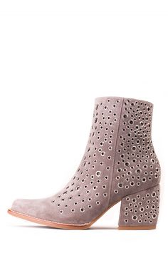 Jeffrey Campbell Shoes BRAVADO-EY STUD MUFFIN in Taupe Silver
