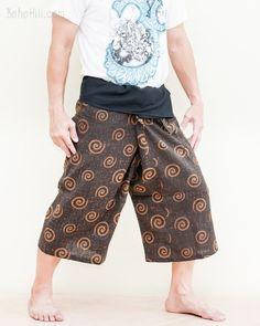 Women's Thai Fisherman Pants Wrap Around Fold Over Waist Yoga Trousers – BohoHill Long Sew In, Thai Fisherman Pants, Yoga Trousers, Yoga Pants Outfit, Hippie Pants, Drop Crotch, Small Waist, Ethnic Fashion, Black Pants