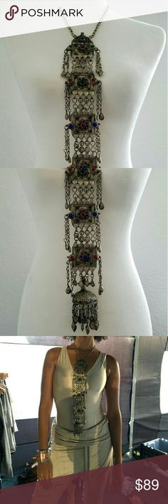 Vintage Necklace from India!! One of the most incredible necklaces I've seen in a while!! A true piece of art. It is all solid and you can tell from the weight. A perfect fit for any Burner with style that wants that authentic look on the Playa. Jewelry Necklaces
