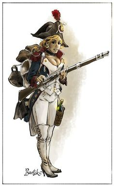The gender might not be right, but the uniform is rather spot on. Military Women, Military Art, Military History, Empire, Steampunk Characters, Pin Up Drawings, Epic Pictures, Pop Culture Art, Female Soldier
