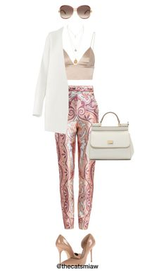 """Sour Peach"" by belleforcible on Polyvore featuring Zimmermann, T By Alexander Wang, Non, Kurt Geiger, Marc Jacobs and Dolce&Gabbana"