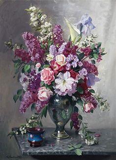 Ernest William Buckmaster (1897-1968) — Flowerpiece  (617x850)