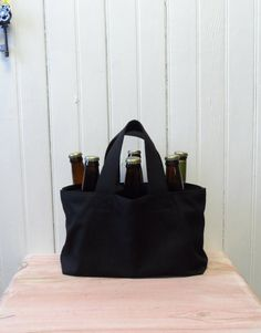Beer bomber craft homebrew beer wine holder bag by ddidit on Etsy, $25.00
