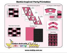 Barbie Birthday Party Printables