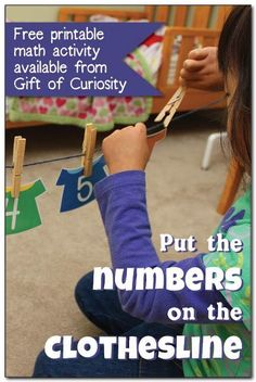 Put the numbers on the clothesline math printables A free printable math activity to help kids with number recognition counting ordering and skip counting Kids love pinni. Math Activities For Kids, Number Activities, Counting Activities, Fun Math, Numeracy Activities, Maths, Numbers Preschool, Learning Numbers, Math Numbers