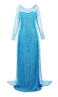 ReliBeauty Womens Princess Elsa Sequin Dress Up Costume XXLarge Blue * Click image to review more details.