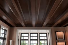 Metrie Very Square Finishing Collection: Redefine a room and create a classic feel with strong, crisp lines along a #ceiling. #office #moulding #trim #trimwork
