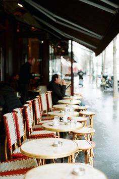 #paris sidewalk...one of my very, very very favorite things to do. Sit in a Parisian street cafe drinking cafe au lait and watching the world go by.