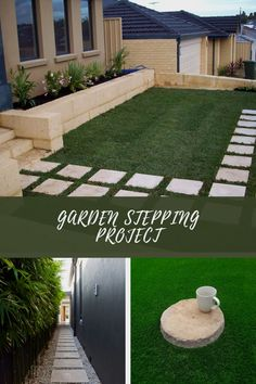 Easy DIY Garden Stepping Stones #gardenrocks Unique Gardens, Amazing Gardens, Garden Stepping Stones, Garden Steps, Creative Art, Creative Ideas, Garden Art, Easy Diy, Sidewalk