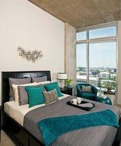 Teal Bedroom Designs, Teal Bedroom Decor, Bedroom Turquoise, Gray Bedroom,  Bedroom Wall