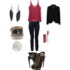 80s Rock Girl, created by meghan-bussing-hughes on Polyvore