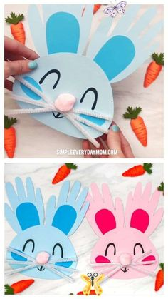 Handprint Bunny Craft For Kids Handprint Bunny Craft For Kids | Toddlers, preschool and kindergarten kids will love making these DIY Easter bunnies from their handprints and some simple craft supplies. They're cute, easy to make and come with a free printable template.  #kids #kidsactivities #kidscrafts #craftsforkids #easter #eastercrafts #eastercraftsforkids #handprintcrafts #handprintart #toddlers #preschool #preschoolers #preschoolcrafts #kindergarten #teachingkindergarten #elementary… Spring Crafts For Kids, Diy For Kids, Craft Kids, Easter Crafts Kids, Children Crafts, Children Activities, Spring Crafts For Preschoolers, Arts And Crafts For Kids Toddlers, Hand Crafts For Kids