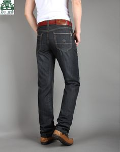 31.83$  Watch here - http://aliwvi.shopchina.info/go.php?t=32327368255 - AFS JEEP Original Style Younger Man's Plus Size Classical Cotton & Spandex Elasticity Casual Black Jeans,Summer Thin 563# 31.83$ #buyonlinewebsite