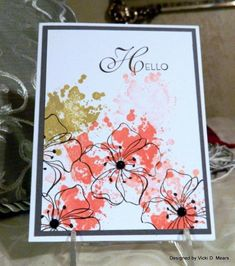CAS293 A Pink Hello by vdm - Cards and Paper Crafts at Splitcoaststampers