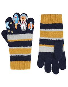 With their planet, rocket and astronaut decorations at the fingertips, our Space Cadet gloves for boys are out of this world. This snug pair is knitted with ...