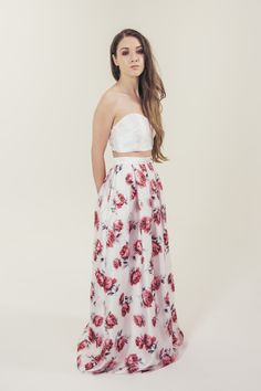 RTW Collection    E&W Couture    Mia Skirt    Pink Floral    Bridal Seperates    Alternative wedding dress