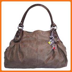Large Charm Hobo Handbag (Dove Brown) - Hobo bags (*Amazon Partner-Link)