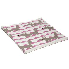 Organic Baby Throw - Baby Fox in Pink