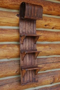 Shelf made from old wooden sled by MarylinJ. i want this!!!!