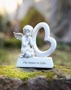 Super Geschenk DEKO FIGUR SKULPTUR LESENDER ENGEL AUF EINER KUGEL