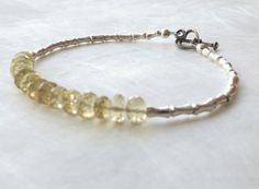 Faceted Lemon Quartz and Karen Hill Fine Silver by EclecticDesigns, $41.00