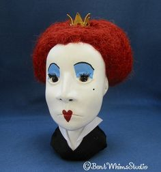 Red Queen art doll by Bent Whims Studio