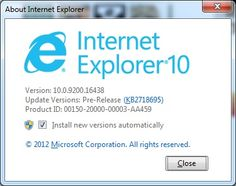 Internet Explorer 10 Release Preview For Windows 7 Is Now Available To Download