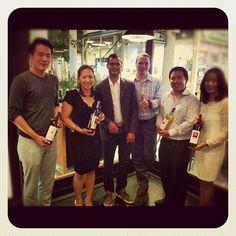 Argiolas wine tasting in Bangkok: Antonio Argiolas and Capri Restaurant staff