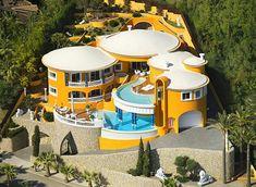 Luxury Life Design: Amazing Villa Colani in Mallorca Villa Design, House Design, Life Design, Colani Design, Extravagant Homes, Spanish Villas, Real Estate Humor, Yellow Houses, Belle Villa