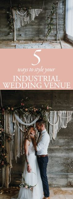 Add some flair to your wedding with these 5 Ways to Style Your Industrial Weddin. Add some flair to your wedding with these 5 Ways to Style Your Industrial Weddin. Best Wedding Venues, Wedding Trends, Trendy Wedding, Wedding Ideas, Luxury Wedding, Wedding Designs, Elegant Wedding, Wedding Inspiration, Design Inspiration
