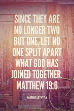 Matthew 19:6~