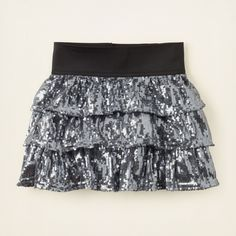 girl - bottoms - sequin shine tiered skirt | Children's Clothing | Kids Clothes | The Children's Place