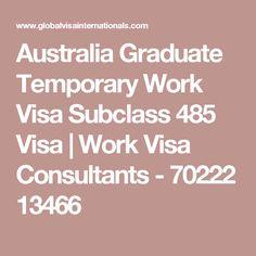 Australia Graduate Temporary Work Visa Subclass 485 Visa | Work Visa Consultants - 70222 13466