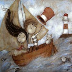 The Wind by Grzegorz Ptak by GrzegorzPtakArt on DeviantArt Finding Neverland, Shutter Speed, Painting & Drawing, Illustrators, Eye Candy, Deviantart, Make It Yourself, Canvas, Drawings