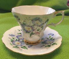 Vintage ROYAL ALBERT Bone China TEA CUP & SAUCER SET - Friendship Morning Glory #RoyalAlbert