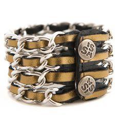 Link Four Gold € 42,50 bracelet by www.issamadeby.nl
